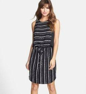Vince Camuto Ikat Stripe Drawstring Dress